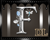 silver letter F
