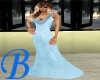 [B] Blue Evening Gown