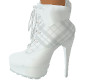 White Plaid Boots