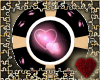pink&blk Heart rnd couch
