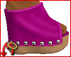 Wedge/Leather Fuschia
