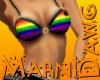 Rainbow Bikini Top