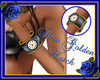 Blue Golden Watch F