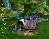 Ceramic Pots w/Flowers