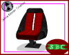 Black & Red XO Chair