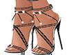chan blk/silver heels