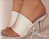 ! White Faux Heels
