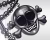 ! L! Skull Pearl Ncklace