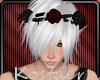 Red/black flower crown