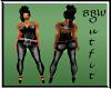 BBW Jeans & Corset Black