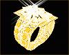 Anel Ouro Diamante F