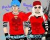 FE red skull+stripes top