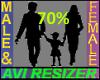 70% Short
