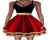 Zoe-Red/Black Dress