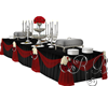 Black Red Buffet Wedding