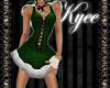 Sexy Santa Girl Green