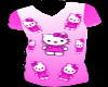 HKitty pink pj top(M)