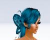 Blue Butterfly hair
