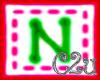 C2u letter N Sticker