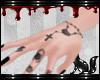FOX hand tattoo + nails