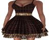 Zoe-Brown/Gold Dress