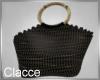 C black beach bag