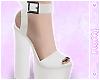 ✿ White Band Heels