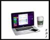 [EDJ]Laptop w/ Coffee
