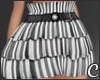 !© Ruffled Skirt Stripe