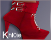 K cheer red boots