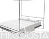 Minimal Metal Framed Bed