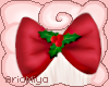 ☾ Red Holly Bow