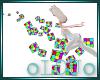 .L. Floating Rubix Cubes