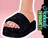 ! Black Fur Slides