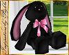 I~Girl Blk Velvet Bunny