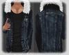 Jean Jacket  White Fur