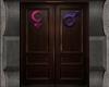 Male & Female Bath Doors