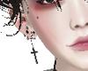 animated cross earrings