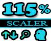 115% Scaler Head Resizer