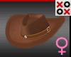 Brown Fur Cowgirl Hat