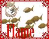 gold glitter fish