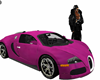 hot pink bugatti car