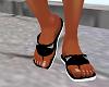 Armani sandals black