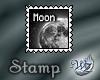 Quarter Moon Stamp