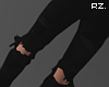 rz. Black Ripped Pants