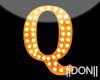Q Orange Neon Lamps