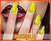 ! Yellow Art Nails