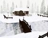 Cold Winter Snow Cabin