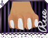+R+ White M Furry feet
