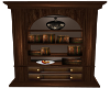 Radio Bookcase-Dark Wood